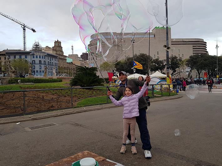 ג'ירונה וברצלונה עם ילדים - ענבר שחק