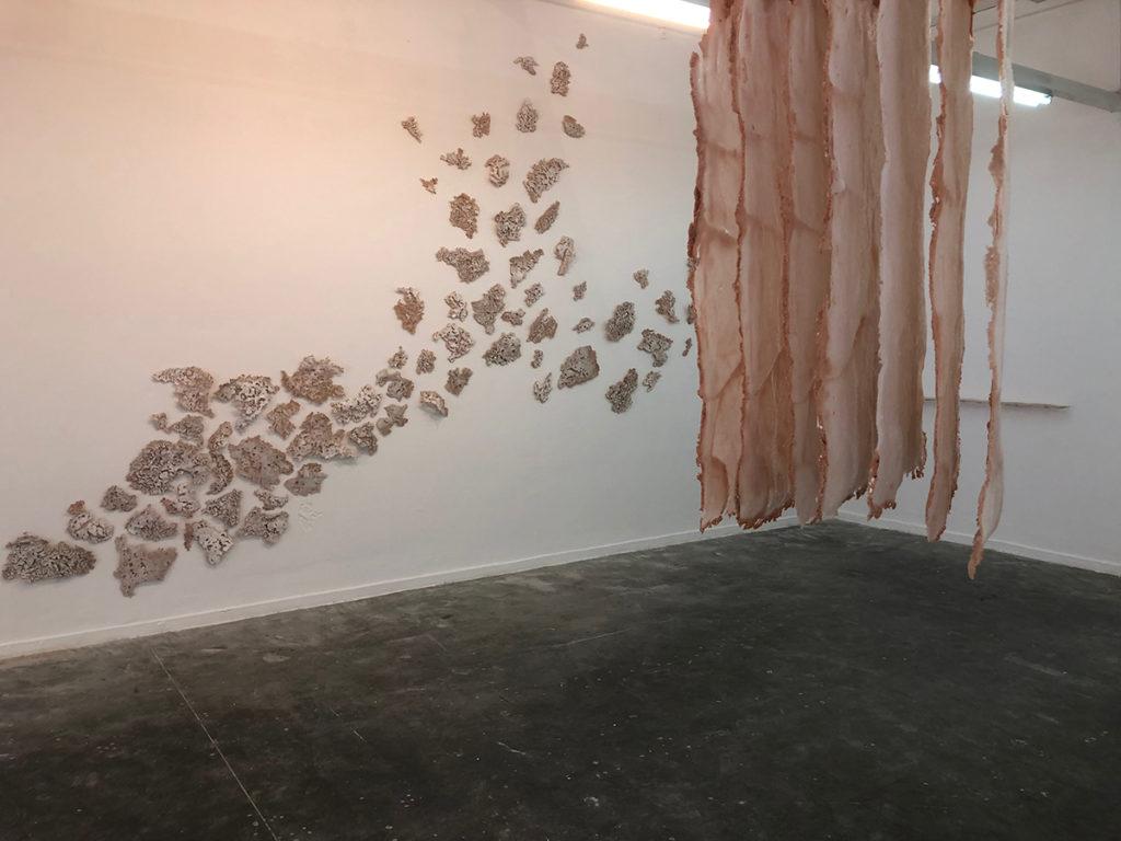 אמנות בזכוכית - עבודה של שקד כהן, בצלאל